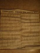 FERROCARRIL GENERAL SAN MARTÍN Nº 2 - ARGENTINA, 1960. 91X81 CM. POSTER YACANTO HOTEL ADVERTISING. - Railway