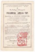 DP Philomena A. Top / Hendryck ° Proven Poperinge 1839 † 1888 - Imágenes Religiosas