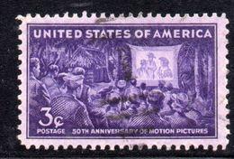 XP3135 - STATI UNITI 1945 , Yvert N.  480  Usato . Cinema - Used Stamps