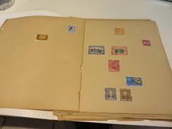 WELTWEIT  Posten  O / * / ** /  MARKEN  Auf  SEITEN  Mit  FALZ  Und  In  TASCHEN - Briefmarken