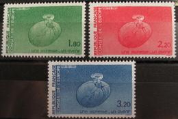 LOT R1624/75 - 1985 - TIMBRES DE SERVICE (CONSEIL DE L'EUROPE) - N°85 à 87 - NEUFS** - Service