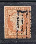 CUBA  1855. 2 REALES . ISABEL II. USADO. EDIFIL Nº 3  CLASI AZUL - Cuba (1874-1898)