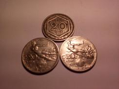 LOT DE 3 BELLES MONNAIES ITALIENNES 20 Centimes 1913 1914 1918 Voir Photos - 1861-1946 : Kingdom