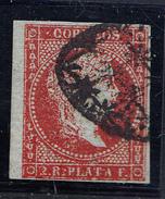 ANTILLAS  1855. 2 REALES. CARMIN OSCURO  . ISABEL II. USADO. EDIFIL Nº 3  CLASI AZUL - Cuba (1874-1898)