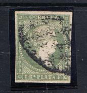 ANTILLAS  1856. 1 REAL.VERDE AMARILLENTO. ISABEL II. USADO. EDIFIL Nº 5  CLASI AZUL - Cuba (1874-1898)