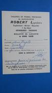 Document Sur La Vente De Pierres Précieuse De Madagascar Améthiste Ovale Mr. Robert Tailleur De Pierres - Factures & Documents Commerciaux