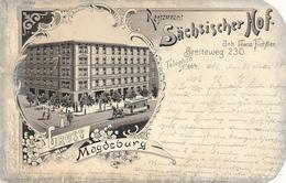 MAGDEBURG - 1898 , Restaurant Sächsischer Hof - Magdeburg