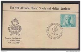 1964  4 Th All India Scouts Jumboree Headquarters Bharat Scouts And Guides Cover  Indien #21557 Inde India - Scouting