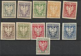 Pologne Poland  Timbres Neufs  YT 136/46  Polen Polska - ....-1919 Übergangsregierung