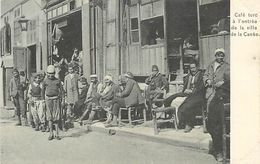 E-16-6101 :  CAFE TURC A L ENTREE DE LA VILLE DE LA CANEE . CRETE - Grecia