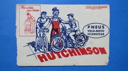 """Buvard Hutchinson """" Plus Solide Que L'acier """"  Publicité  Pour Les Pneus, Vélo-Moto, Vélomoteur - Motos & Bicicletas"""
