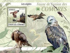 COMORES 2009 SHEET EAGLES AIGLES AGUILAS AGUIAS ADLERN AQUILE BIRDS OF PREY AVES DE PRESA OISEAUX DE PROIE Cm9414b - Comoren (1975-...)