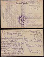 2 X DEUTSCHE FELDPOST AUS DIKSMUIDE 1915 & 1917 - Guerre 1914-18