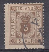 ISLANDIA 1876/01 SERVICIOS - 5 USADO - Islandia