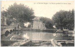84 L'ISLE-sur-SORGUE - Le Bassin Pendant Les Basses Eaux     (Recto/Verso) - L'Isle Sur Sorgue