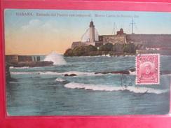 CUBA  . HABANA . ENTRADA DEL PUERTO CON TEMPORAL - Postcards