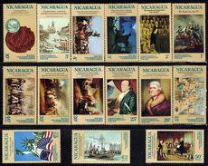 Nicaragua American Bicentennial Sc 978-88,C876-9 MNH 1975 - Indépendance USA