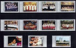 Nicaragua Famous Choirs Christmas Silent Night Sc 997-1003,C887-C890 MNH 1975 - Christianisme