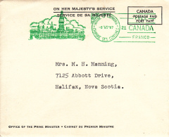 Canada OHMS Cover 1967 Postmarked House Of Commons 8 VI 67 - 1952-.... Règne D'Elizabeth II