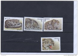 Kirghizstan Nº 28 Al 31 - Big Cats (cats Of Prey)