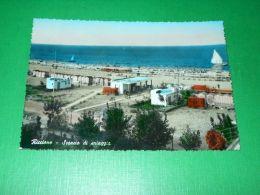 Cartolina Riccione - Scorcio Di Spiaggia 1957 - Rimini