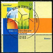 BRD - Michel 2378 ECKE REU - Zentrisch OO Gestempelt (A) - 55+25C  Erneuerbare Energien - [7] West-Duitsland
