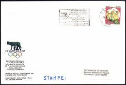 OLYMPIC GAMES - ITALY ROME 1987 - WORLD OLYMPIC PHILATELIC EXHIBITION - OLYMPHILEX ´87 - OFFICIAL ENVELOPE - Zomer 1988: Seoel