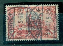 Deutsch-Südwestafrika. Schiffszeichnung, Nr. 20 Gestempelt - Kolonie: Deutsch-Südwestafrika