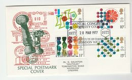 1977 GB Stamps  COVER  EVENT CHEMISTRY CONGRESS At UNIVERSITY COLLEGE London - Chemistry