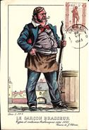 Types Et Costumes Brabançons Vers 1835, Dessins De James Thiriar : Le Garçon Brasseur. CPSM. - Lots, Séries, Collections