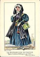 Types Et Costumes Brabançons Vers 1835, Dessins De James Thiriar : La Bourgeoise En Faille. CPSM. - Lots, Séries, Collections