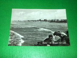 Cartolina Rimini - La Spiaggia Dal Molo 1963 - Rimini