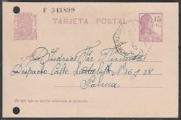 1932 .Tarjeta Postal Ambulante AMB- Arta-Palma  - Baleares - 1931-Oggi: 2. Rep. - ... Juan Carlos I