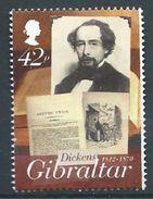 GIBRALTAR 2012 Charles Dickens 200 Aniversary USED NOT CANCEL - Gibraltar