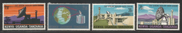 1970 Kenya Uganda Tanzania  Telecommunications Satellite Complete Set Of  4 MNH - Kenya, Oeganda & Tanzania