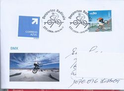 Extreme Sports. BMX.Letter Circulated In Express Mail With BMX Obliteration.Cycling.Extremsportarten.BMX.Radfahren. - Mountain Bike
