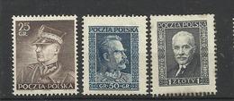 Pologne Poland Neufs * YT 396A/C   Polska Polen - 1919-1939 República