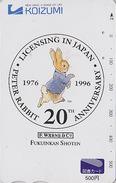 Carte Prépayée Japon - PIERRE LAPIN - PETER RABBIT Japan Prepaid Tosho Card - KANINCHEN - BD COMICS 24 - BD