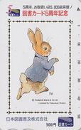Carte Prépayée Japon - PIERRE LAPIN - PETER RABBIT Japan Prepaid Tosho Card - KANINCHEN - BD COMICS 25 - BD