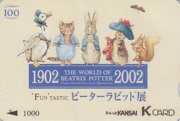 RARE Carte Japon - PIERRE LAPIN ECUREUIL CHAT OIE - PETER RABBIT CAT SQUIRREL GOOSE Bird Japan K Card - BD COMICS - 39 - BD