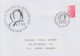 Enveloppe (1992-07-04, 5300 Andenne) - Sainte-Begge - PL - Poststempels/ Marcofilie