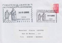 Enveloppe (1992-09-14, Bruxelles 1 1000 Brussel 1) - Maximilien I Recevant Une Missive - PL - Poststempels/ Marcofilie
