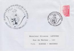 Enveloppe (1992-10-12, Brussel 1 1000 Bruxelles 1) - Chat De Gaston Lagaffe - EL - Poststempels/ Marcofilie