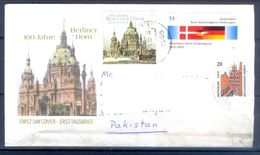 D358- Postal Used Cover Post From Germany To Pakistan. Joint Issue. Flag. Building. - Germany