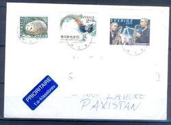 D359- Postal Used Cover Post From Sweden To Pakistan. Joint Issue. Birds. - Sweden
