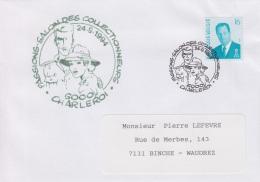 Enveloppe (1994-09-24, 6000 Charleroi) - Fox Et Edith ( BD ) - PL - Marcofilia
