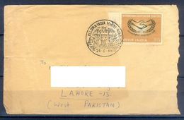 D364- Postal Used Cover Post From India To Pakistan. Joint Issue, - India