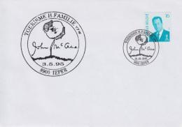 Enveloppe (1995-05-03, 8900 Ieper) - Signature De John McCrae Et Coquelicot - 04 - Poststempels/ Marcofilie