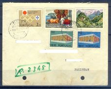 D369- Postal Used Cover Post From Portugal To Pakistan. Joint Issue. EUROPA. Olympic. - Portugal