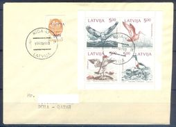 D370- Postal Used Cover Post From Latvija To Qatar. Joint Issue. - Latvia